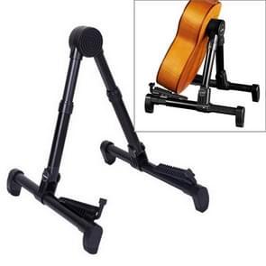 Simple Folding Vertical Guitar Violin Ukulele Bracket Musical Instrument Stand(Black)