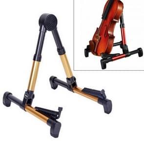 Simple Folding Vertical Guitar Violin Ukulele Bracket Musical Instrument Stand(Gold)
