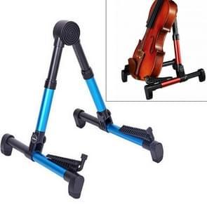 Simple Folding Vertical Guitar Violin Ukulele Bracket Musical Instrument Stand(Blue)