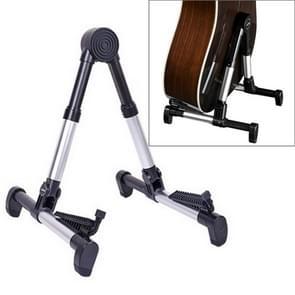 Simple Folding Vertical Guitar Violin Ukulele Bracket Musical Instrument Stand(Silver)