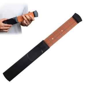 Mini Pocket Guitar draagbare Guitar Trainer vinger Chord conversie Trainer KD10(Black 6 characters)