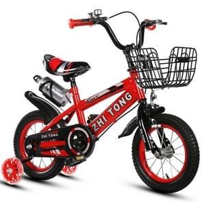 18 inch Kinderfiets trainingswielen kids fiets met waterkoker (Rood)