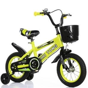 18 inch kinderfiets met trainingswielen (geel)