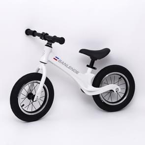 Kinderen Balance Bike Zonder Pedaal Driewielige Alloy Slide Peuter Fiets (Wit)