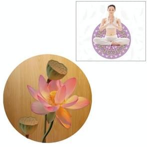 Lotus Pattern Round Yoga Meditation Mat Anti-skid Rubber Pad, Diameter: 70cm