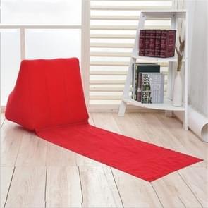 Buiten strand PVC dikke gevlekt strand mat opblaasbare driehoek pad  grootte: 150x38x46cm (rood)