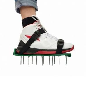 Garden Lawn Garden Tools Grass Ripper Spiked Shoes with 4 Plastic Buckles (Green)