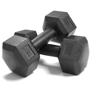 12KG A Pair Household Glue Fitness Hexagon Dumbbells
