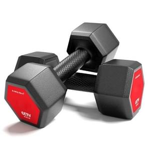 20KG A Pair Red Seal Household Glue Fitness Hexagon Dumbbells