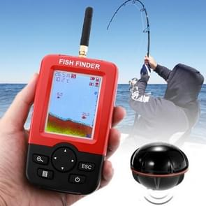 XJ-01 Wireless Fish Detector 125KHz Sonar Sensor 0.6-36m Depth Locator Fishes Finder with 2.4 inch LCD Screen & Antenna, Built-in Water Temperature Sensor