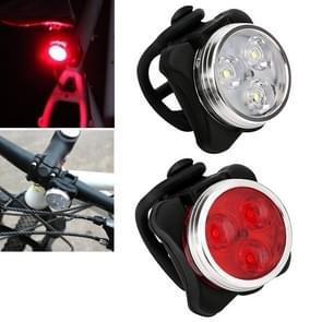 HJ-03050LM COB lamp kraal USB opladen vier-Speed dimmen waterdichte fiets koplamp + achterlicht set