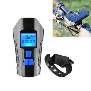 350LM USB Charging waterdichte snap-on fiets koplamp met speaker & stopwatch functie (blauw)