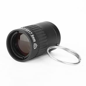2.5x17.5mm Mini Pocket Miniature Telescope with Finger Buckle (Black)