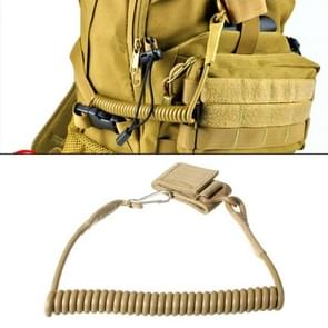 Outdoor Multifunction Tactical Spring Lanyard, Cable Length: 52cm(Yellow)