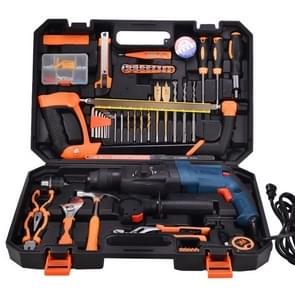 STT-058B Multifunction Household 58-Piece Electric Hammer Drill (1300W) Toolbox Set