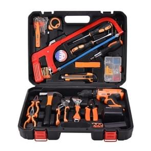 STT-052A Multifunction Household 52-Piece Electrician Repair Toolbox 21V Lithium Electric Drill Suit