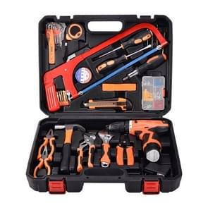 STT-052C Multifunction Household 52-Piece Electrician Repair Toolbox 12V Lithium Electric Drill Suit