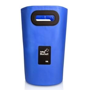 Outdoor Portable Folding Sink PVC Collapsible Bucket, Capacity: 15L (Dark Blue)