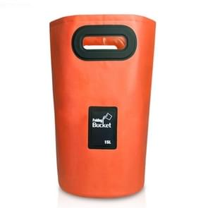 Outdoor Portable Folding Sink PVC Collapsible Bucket, Capacity: 15L (Orange)