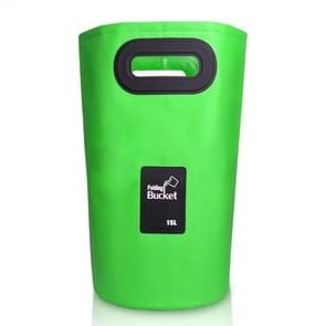 Outdoor Portable Folding Sink PVC Collapsible Bucket, Capacity: 15L (Green)