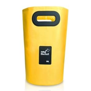 Outdoor Portable Folding Sink PVC Collapsible Bucket, Capacity: 15L (Yellow)