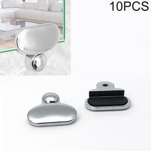 10 PCS Oval Glass Mirror Holder Buckle Fixing Accessories with Screw & Rubber Plug
