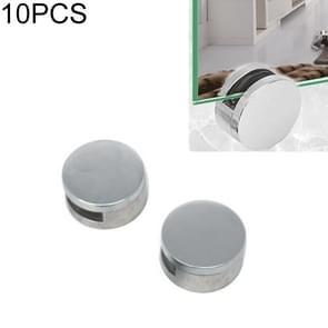 10 stuks circulaire glazen spiegel houder gesp bevestiging accessoires met schroef & rubber plug