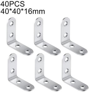 40 PCS Stainless Steel 90 Degree Angle Bracket,Corner Brace Joint Bracket Fastener Furniture Cabinet Screens Wall (40mm)