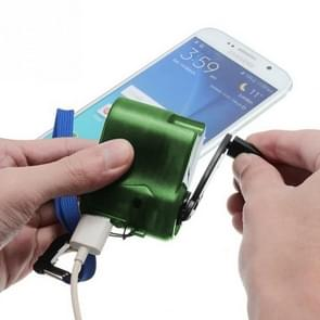 Outdoor Emergency Portable Hand Power Dynamo Hand Crank USB Charging Charger (Green)