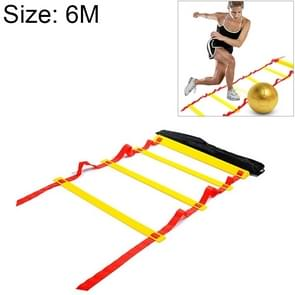 6 Meters 12 Knots Thick Section Pace Training Tough Durable Soft Ladder Football Training Wear Resistant Ladder Rope(Yellow)