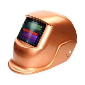 Solar Automatic Variable Light Electric Welding Protective Mask  Welding Helmet(Gold)