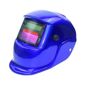 Solar Automatic Variable Light Electric Welding Protective Mask  Welding Helmet(Blue)