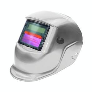 Solar automatische variabele licht elektrisch lassen beschermende masker lassen helm (zilver)
