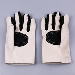 Labor Supplies Wear-Resistant Protection Gloves Thickened Encryption Canvas Gloves(Black)