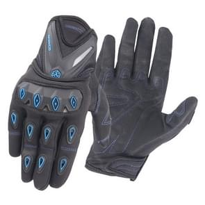 Motocross Racing Gloves Riding Knight Safety Gloves, Size: L (Blue)