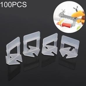 100 PCS 1.5mm Lengthen Tile Leveling System Clips Kit Wall Floor Tile Spacer Tiling Tool for Paving Locator Tool OG6480