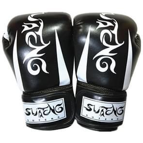 SUTENG Pearl licht geladen PU lederen fitness boksen handschoenen voor volwassenen (zwart)