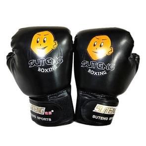 SUTENG cartoon PU lederen fitness boksen handschoenen voor kinderen (zwart)