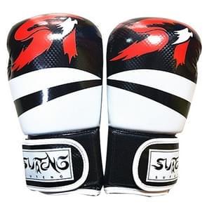 SUTENG Matting textuur PU lederen fitness boksen handschoenen voor volwassenen (zwart)