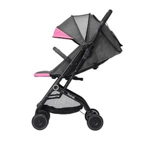 Original Xiaomi 700Kids Child Baby Adjustable Folding Shockproof Four-wheeled Stroller Cart with Double Brake (Pink)