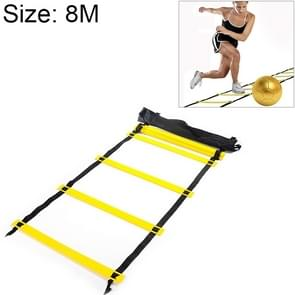 8 Meters 16 Knots Thick Section Pace Training Tough Durable Soft Ladder Football Training Wear Resistant Ladder Rope(Yellow)