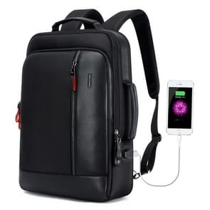 Bopai 751-006641 Large Capacity Business Fashion Breathable Laptop Backpack with External USB Interface, Size: 30 x 15 x 44cm(Black)