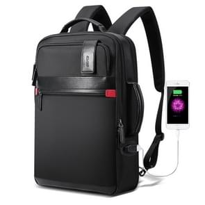 Bopai 751-003151 Large Capacity Anti-theft Waterproof Backpack Laptop Tablet Bag for 15.6 inch and Below, External  USB Charging Port(Black)