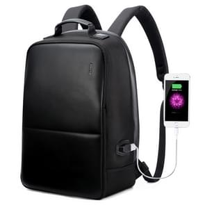 Bopai 751-004501 Large Capacity Scratch-proof Business Simplicity Breathable Laptop Backpack with External USB Interface, Size: 30 x 16.5 x 45cm(Black)