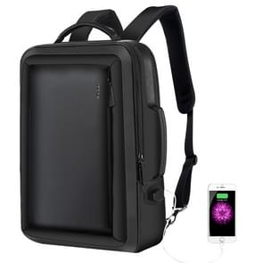 Bopai 751-006551 Large Capacity Business Casual Breathable Laptop Backpack with External USB Interface, Size: 30 x 12 x 44cm(Black)