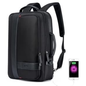 Bopai 751-006561 Large Capacity Business Casual Breathable Laptop Backpack with External USB Interface, Size: 29 x 16 x 44cm(Black)