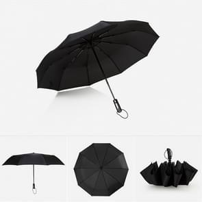 Automatische lichtgewicht draagbare drie vouwen waterdichte Anti-UV-Umbrella(Black)
