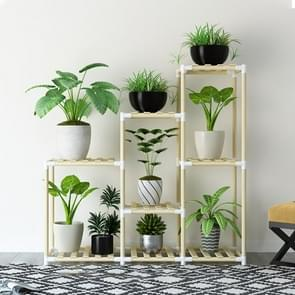 Balcony Living Room Multi-layer Solid Wood Flower Stand Potted Planting Shelves (Standard Style)