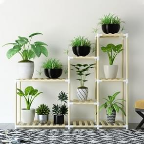 Balcony Living Room Multi-layer Solid Wood Flower Stand Potted Planting Shelves (Extended Style)