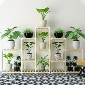 Balcony Living Room Multi-layer Solid Wood Flower Stand Potted Planting Shelves (Combination Style)